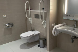 Bathroom Outfitted for Disabled People