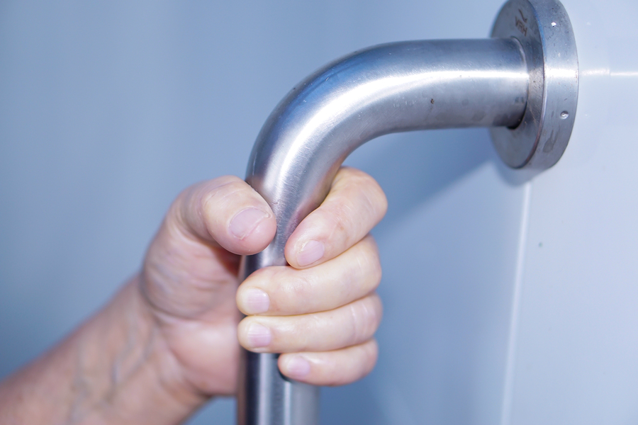 Elderly Patient Using Grab Bar
