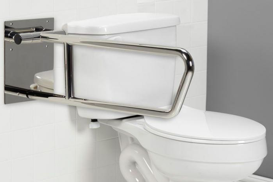 Stabilization grab bars for toilets.