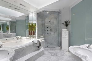 corner-custom-walk-in-shower-with-marble-tile
