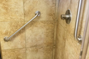 Grab Bars Installed In Walk In Shower