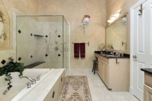 remodeled-tiled-walk-in-shower-with-shower-bench-in-texas