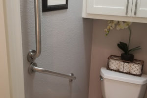 Two Grab Bars Installed Near Toilet